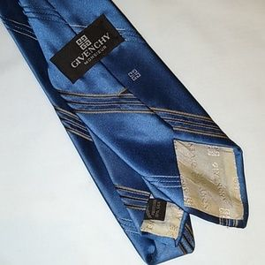 Givenchy monsieur blue striped tie